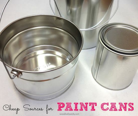 10 Paint Secrets: tips & tricks you never knew about paint (Like where to find cheap paint cans...great for crafts, organizing, and paint storage!)