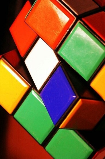 Colors of the Rubix cube