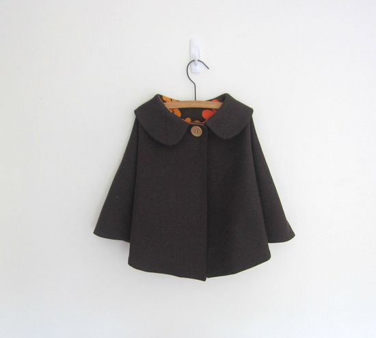 child's wool cape ++ one me