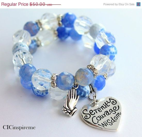 Serenity Prayer Handmade Charm Bracelet