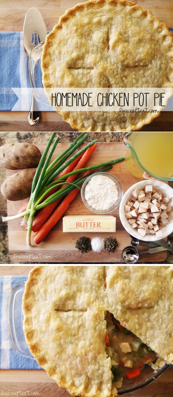 {homemade chicken pot pie} *this looks DELICIOUS