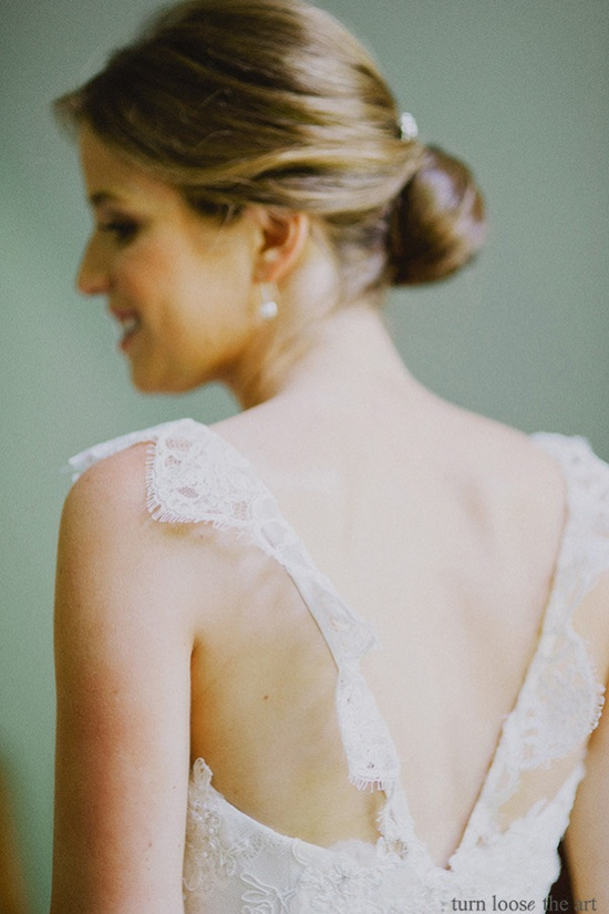 beautiful back on this dress by www.alynebridal.com/  Photography by turnloosetheart.com