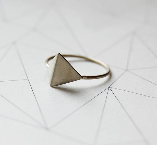 Sterling silver geometric ring Les géométriques Nro 5 by AgJc.