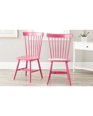 Make your kitchen pop with these raspberry dining chairs! Get them here:http://www.bhg.com/shop/safavieh-safavieh-country-lifestyle-spindle-back-raspberry-dining-chair-set-of-2-p5172e598e4b0bd0560f231dd.html?mz=a