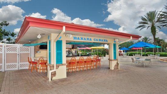 Walt Disney World - Disney Resorts - Banana Cabana Pool Bar at Caribbean Beach
