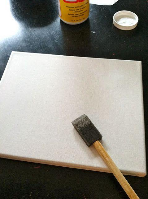 DIY photo canvas tutorial. Gotta try this!