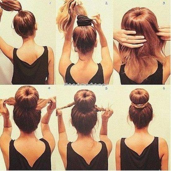 Cute hair bun tutorial