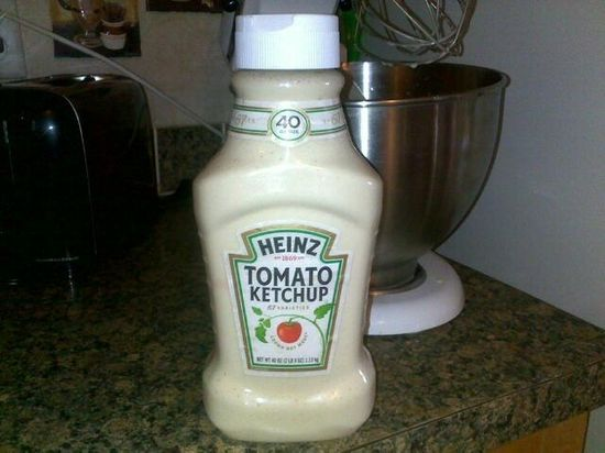 Use an empty ketchup bottle to store pancake mix.