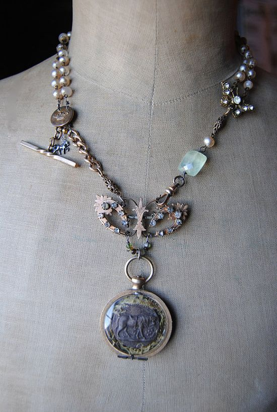 Vintage mixed media jewelry