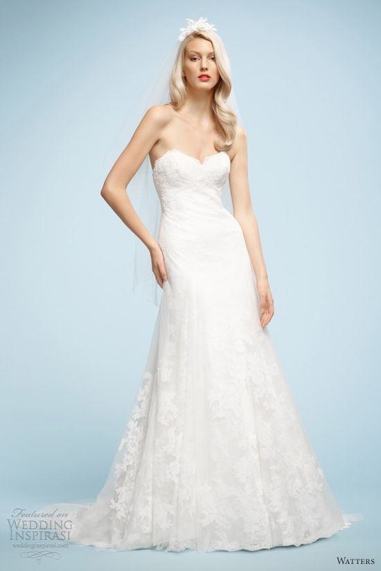 watters spring 2013 gloria strapless wedding dress