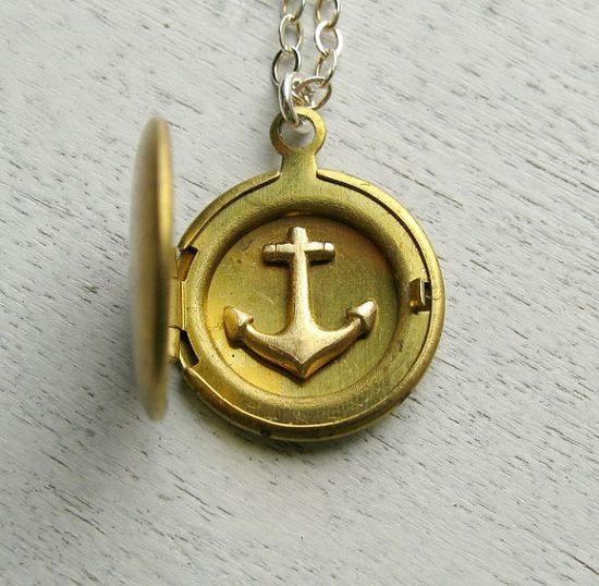 Anchor locket.