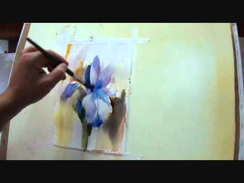 Crimbranelli Fabio superb loose flower watercolour painting demo