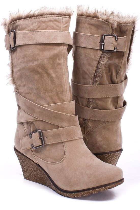 Strappy Wedge Boot
