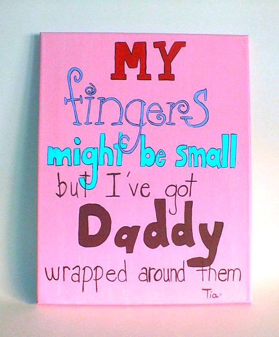 Lol! Don't all daughter have their daddy's wrapped around their finger! I know For sure my hubby will be wrapped around our daughters if we have one haha