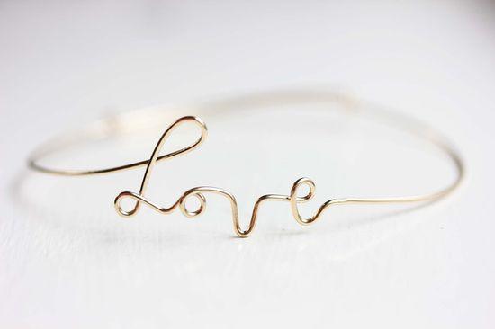 Wire Love Bracelet. $12.00, via Etsy.