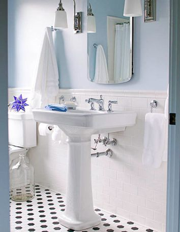 Pedestal Sink #inspiration, bathrooms