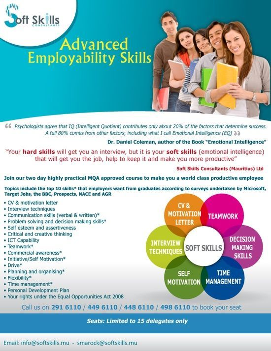 Soft Skills (Mauritius) - Advanced Employability #soft skills #self personality #softskills