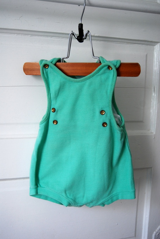 Vintage one piece baby outfit by MilleBebe on Etsy