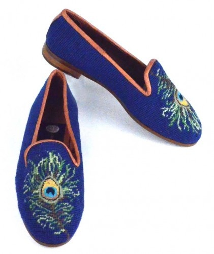 Peacock Needlepoint Loafer
