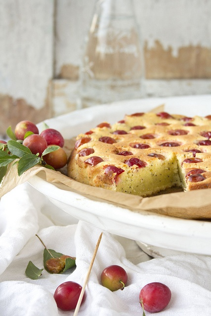 Wonderfully inviting Soft Poppy Seed and Red Plum Cake. #cooking #food #beautiful #baking #dessert #cake #plums