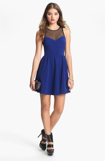 Lush Illusion Fit & Flare Dress (Juniors) available at Nordstrom