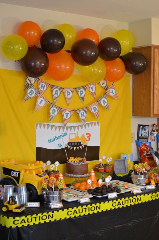 Construction Birthday Party Pack Print Your by Partyperfectdesign,