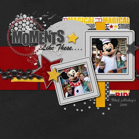 #papercraft #scrapbook #layout #disney Moments like these