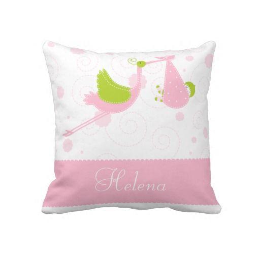 Name,Text,Pink,White,Stork,Baby Girl Throw Pillow