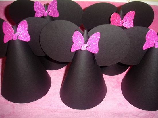 Minnie Mouse Birthday Hats
