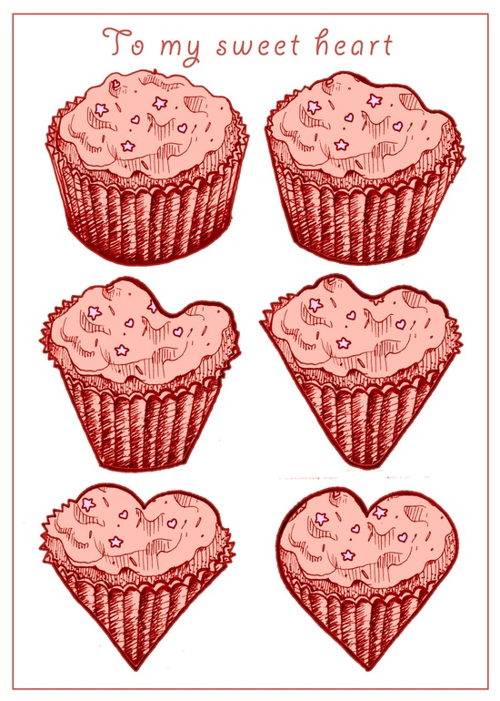 cupcake valentines
