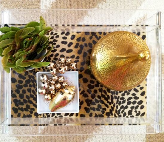 cheetah leopartd lucite tray diy
