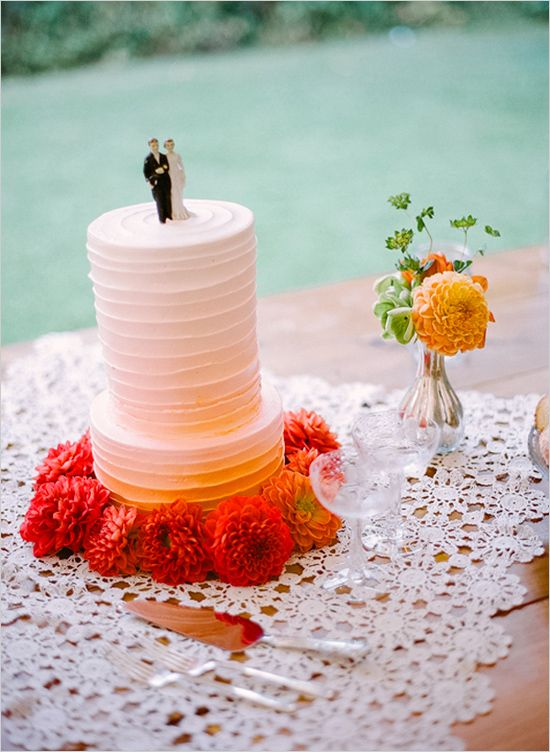 #ombre pink wedding cake... Wedding ideas for brides, grooms, parents & planners ... itunes.apple.com/... … plus how to organise an entire wedding, without overspending ? The Gold Wedding Planner iPhone App ?