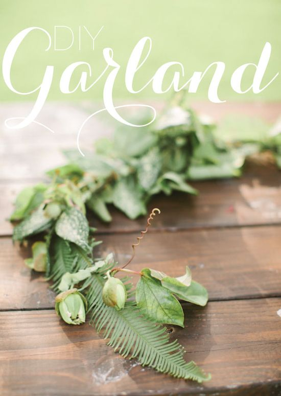Making your own garland