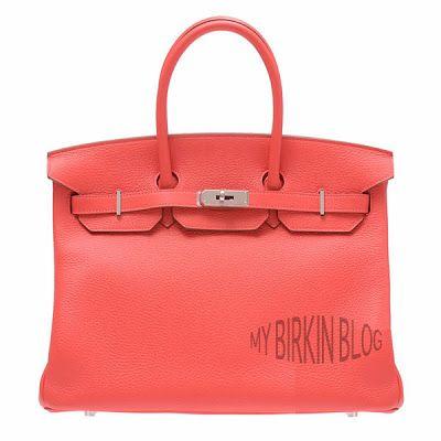 Birkin Size: 35cm Color: Rose Jaipur Leather: Clemence Hardware: Palladium Year/Stamp: 2012/P