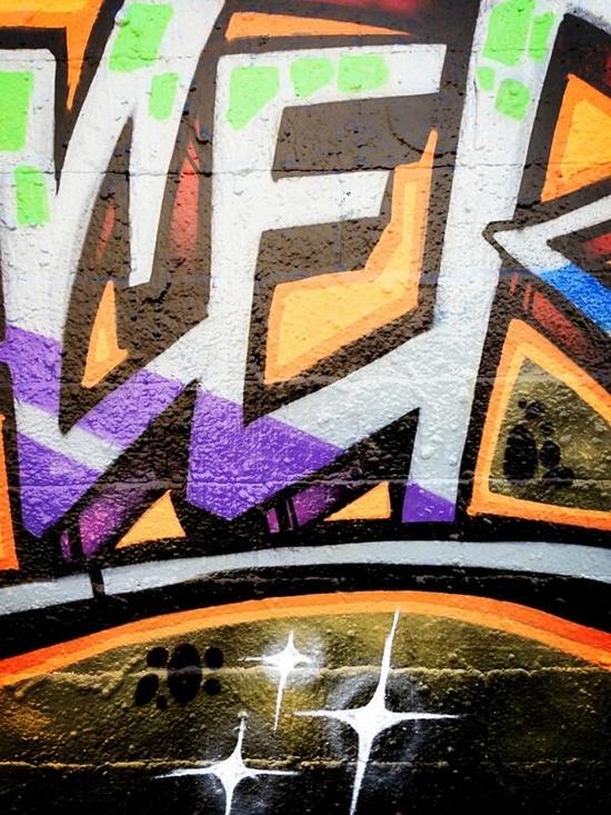 Graffiti E via @ArtisaPerson Visual Arts Camosun College