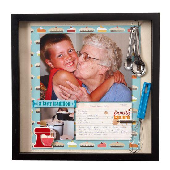 NL11 Cooking Recipe Grandma Shadowbox