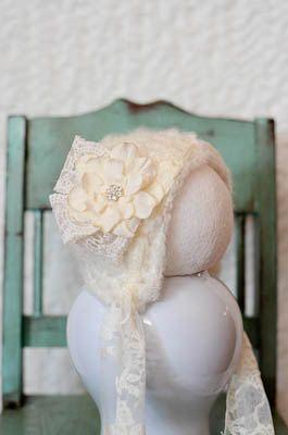 Darling baby girl bonnet.