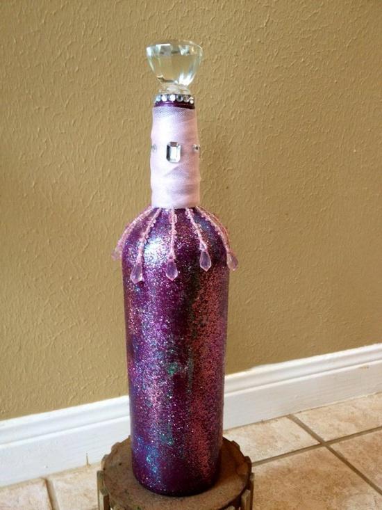 Decoración de botellas de vino para 15 años - Imagui