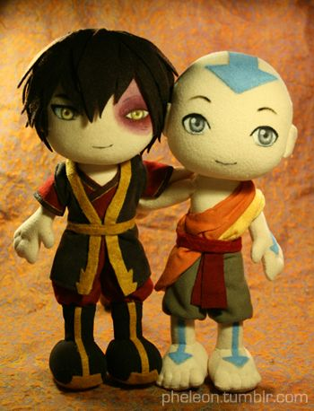 Aang and Zuko plushies