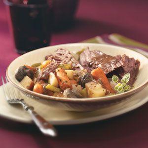 Beef Roast Dinner Recipe = Diabetic Friendly = Slow Cooker = Beef rump roast or bottom round roast 3lb