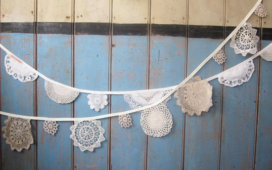 Vintage Doily Bunting from Bunting Boutique