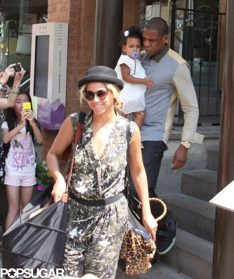 Beyonce, Jay-Z, and Blue Ivy were seen out and about in Toronto today!
