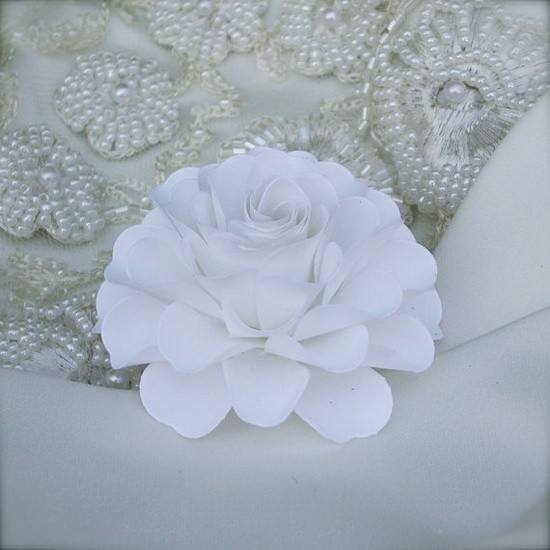 All White Wedding ....handmade paper flower designed by Dragonfly Expression