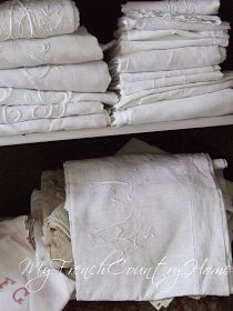 my french country home: sorting and storing french linens