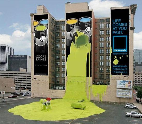 Coop's Paints - Guerilla Marketing