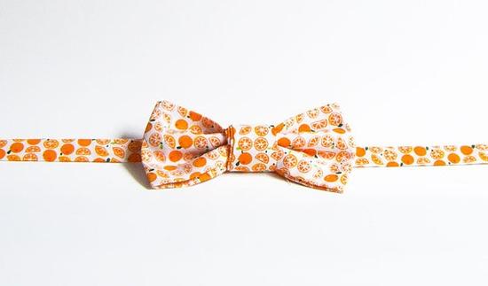 Handmade Bow Tie - Orange Slices