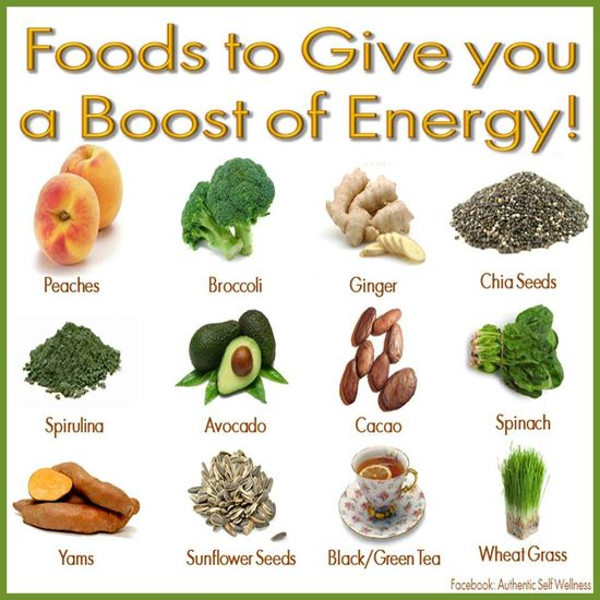Energy-Boosting Foods!  Why settle for energy drinks and medicines when you can have these natural foods to give you a blast of energy!