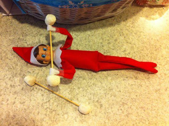 elf on a shelf exercising