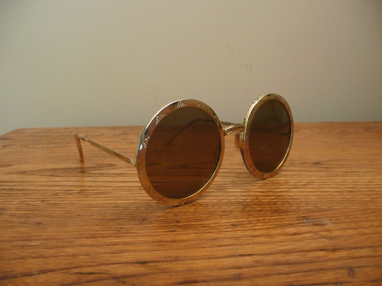 Vintage 1960s Mod Sunglasses Gold Barbados by CreatedAndCollected on Etsy.