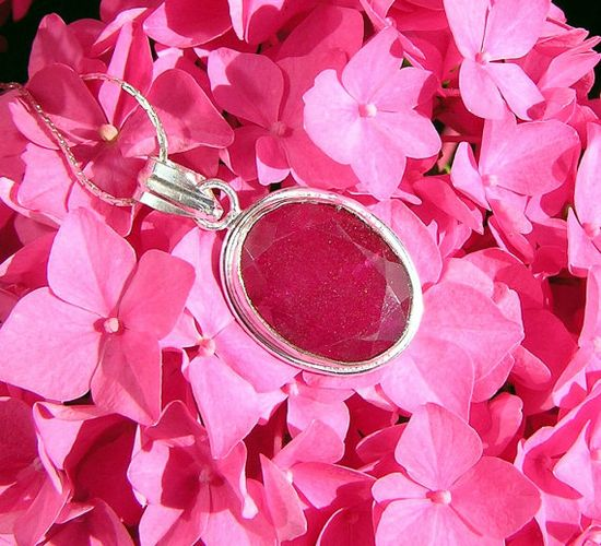 Natural Ruby Crystal Gemstone Pendant by SunnyCrystals on Etsy, £9.25